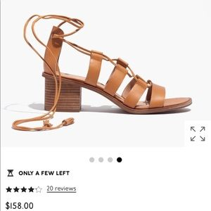 The Daniela lace up heel from Madewell in black
